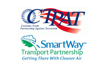 C-TPAT logo and SmartWay Logo
